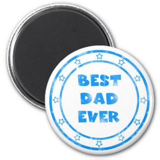 Best Dad Ever Grunge Stamp Magnet