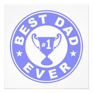 Best Dad Ever Custom Announcement