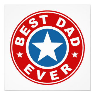 Best Dad Ever Personalized Invitations