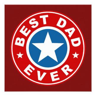 Best Dad Ever Custom Invites