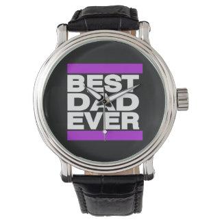 Best Dad Ever Purple Watches