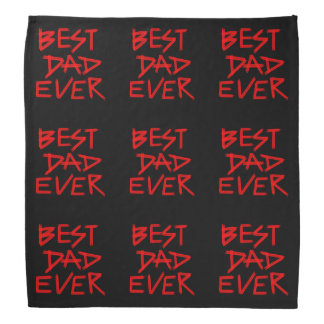 Best Dad Ever Red Paints (Customizable Color) Bandana
