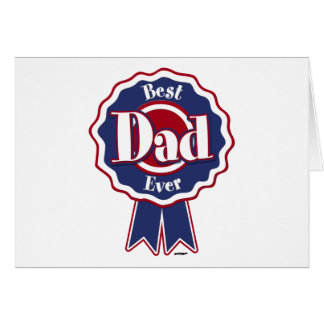 Best Dad Ever ribbon Card