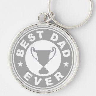 Best Dad Ever Silver-Colored Round Key Ring