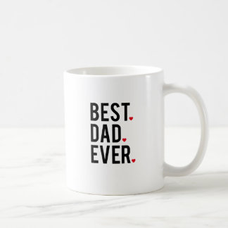 best dad ever, word art, text design, red hearts coffee mug