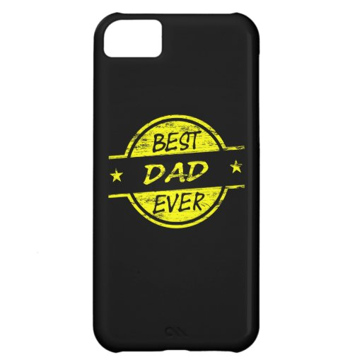Best Dad Ever Yellow Case For iPhone 5C