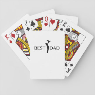 Best Dad  Gift For Father Day  Daddy Papa Playing Cards