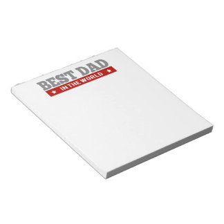 Best Dad in the World Argyle Patterned Notepad