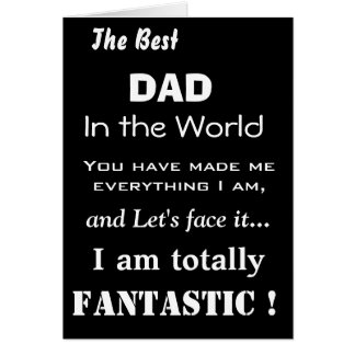 Best Dad in the World Funny Father Card
