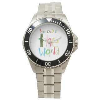 best dad in the world wrist watch