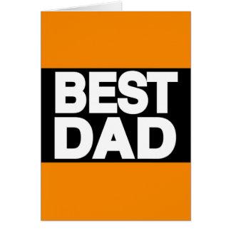 Best Dad Lg Orange Card