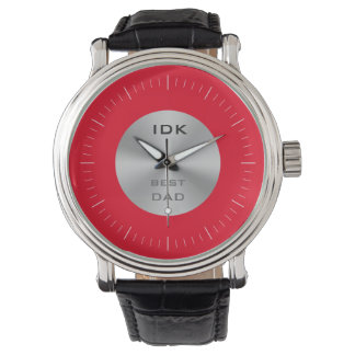 BEST DAD | monogram and editable color Watch