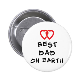 Best Dad On Earth Gift 6 Cm Round Badge