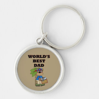 Best Dad Silver-Colored Round Key Ring