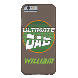 Best Dad with Customizable Name Green and Orange Barely There iPhone 6 Case