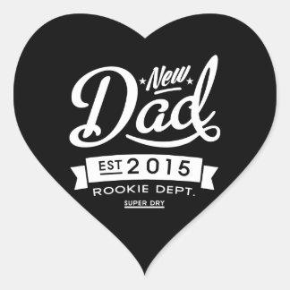 Best Dark New Dad 2015 Heart Sticker