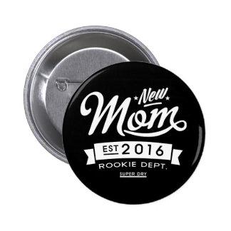 Best Dark New Mom 2016 6 Cm Round Badge