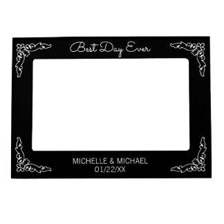 Best Day Ever Black Wedding Magnetic Frame