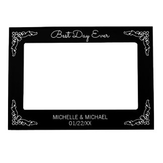 Best Day Ever Black Wedding Magnetic Picture Frame
