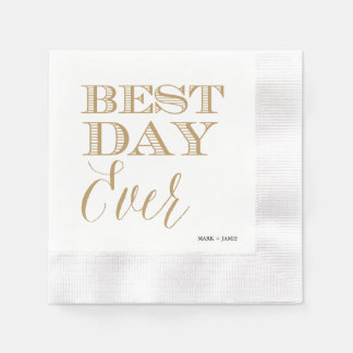 BEST DAY EVER cocktail napkin Disposable Serviette