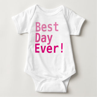 Best Day Ever! Custom Baby Jersey Bodysuit