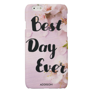 Best Day Ever Glossy iPhone 6 Cases Cherry Blossom