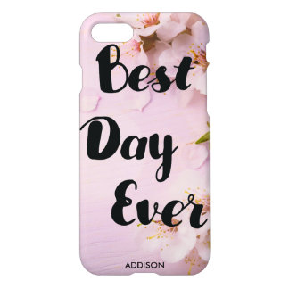 Best Day Ever Glossy iPhone 7 Cases Cherry Blossom
