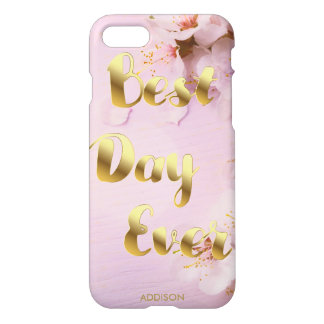Best Day Ever Glossy iPhone 7 Cases Golden Blossom