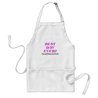 Best Day Ever Im Getting Married Standard Apron