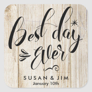 Best Day Ever Personalized Square Sticker