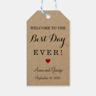 Best Day Ever Personalized Wedding Favor Tags