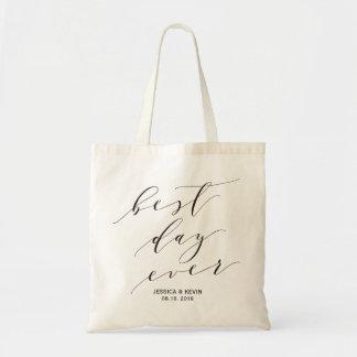 """Best Day Ever"" Wedding Welcome bag,Wedding Favor2 Tote Bag"