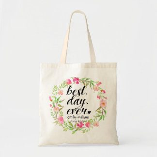 """""""Best Day Ever"""" Wedding Welcome Gift Tote Bag"""