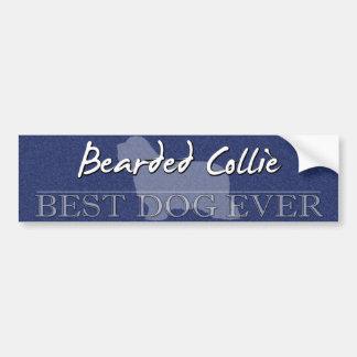 Best Dog Bearded Collie Bumper Sticker