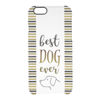 Best Dog Ever Golden Black Stripes Stylish Love Clear iPhone 6/6S Case