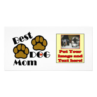 Best Dog Mom Dog Lover Gifts Personalised Photo Card