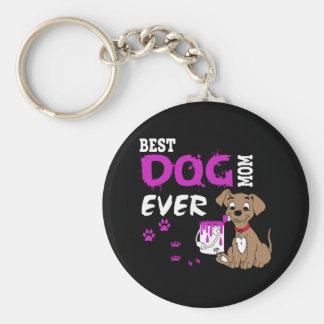 Best Dog Mom Ever Key Ring