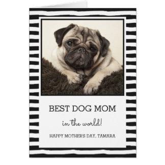 Best Dog Mum | Black | Photo Mother's Day Card