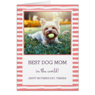 Best Dog Mum | Coral | Photo Mother's Day Card