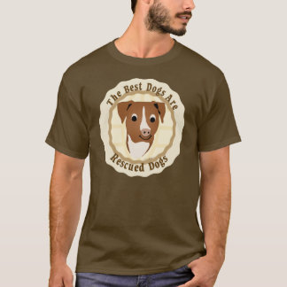 Best Dogs Are Rescued (Pit Bull) T-Shirt