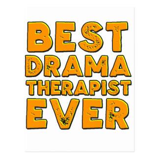 Best drama therapist ever postcard