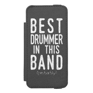Best Drummer (probably) (wht) Incipio Watson™ iPhone 5 Wallet Case