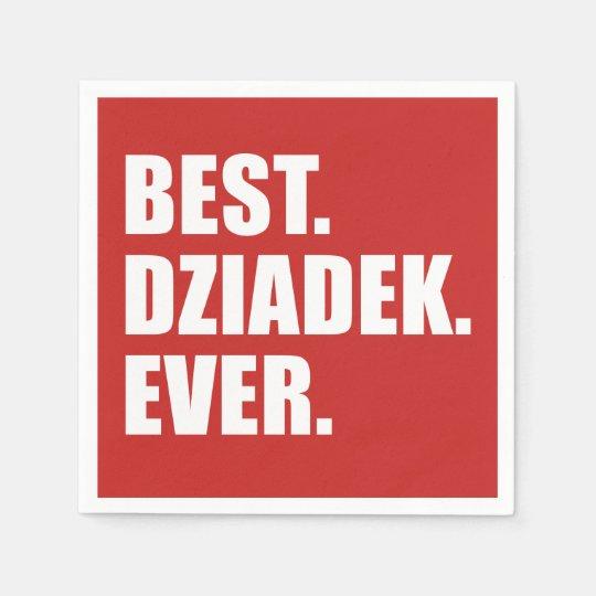 Best Dziadek Ever Polish Grandfather Party Disposable Napkins