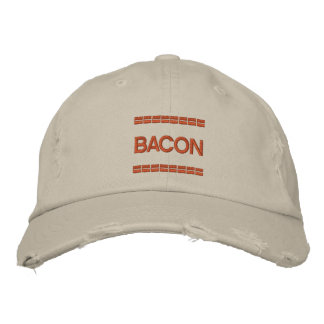 BEST EMBROIDERED BACON HAT EVER IN THE WORLD EMBROIDERED BASEBALL CAP
