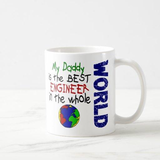 Best Engineer In World 2 (Daddy) Basic White Mug