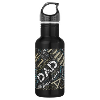 Best Ever Dad Word Cloud ID263 532 Ml Water Bottle