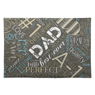 Best Ever Dad Word Cloud ID263 Place Mats