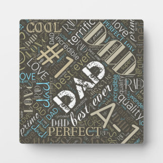 Best Ever Dad Word Cloud ID263 Plaque