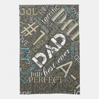 Best Ever Dad Word Cloud ID263 Tea Towel