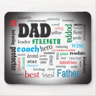 Best Father Dads Day Word Cloud Mouse Pad